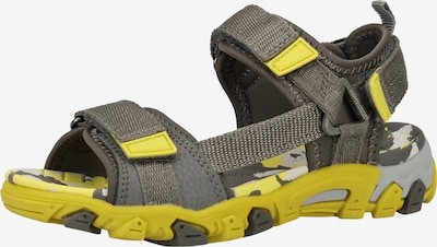 SUPERFIT Sandale in gelb / dunkelgrau, Produktansicht