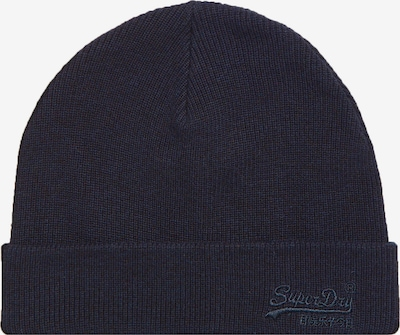 Superdry Bonnet en bleu foncé, Vue avec produit