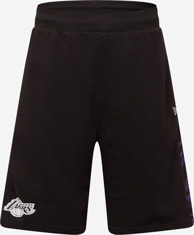 Pantaloni sport NEW ERA pe mov închis / negru / alb, Vizualizare produs