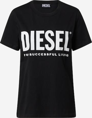 DIESEL Shirt 'T-SILY' in Black
