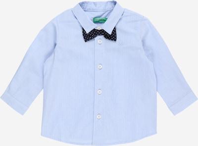 UNITED COLORS OF BENETTON Chemise en bleu nuit / bleu clair / blanc, Vue avec produit