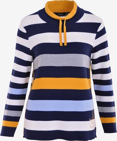 Navigazione Pullover in hellblau / dunkelblau / safran / graumeliert, Produktansicht