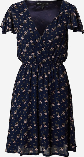 Mela London Kleid in navy / khaki / rosa / puder, Produktansicht