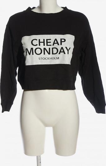 CHEAP MONDAY Sweatshirt in S in schwarz / weiß, Produktansicht
