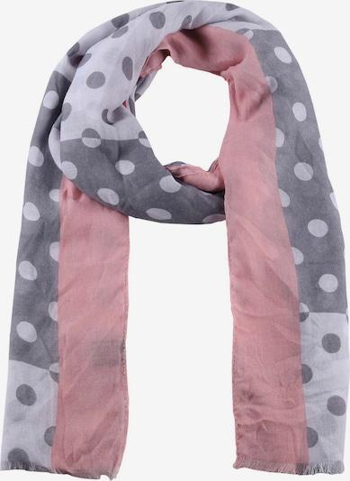 Zwillingsherz Šal | siva / svetlo siva / roza barva, Prikaz izdelka