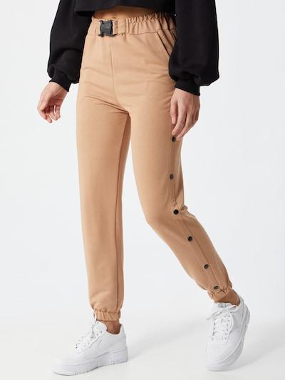 Trendyol Pantalon en beige / noir, Vue avec modèle