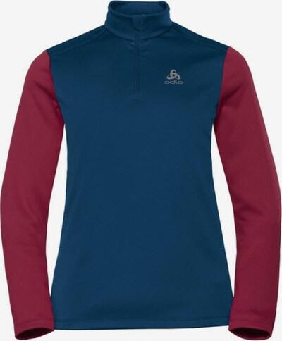 ODLO Shirt ' Midlayer 1/2 zip PLANCHES ' in blau / rot, Produktansicht