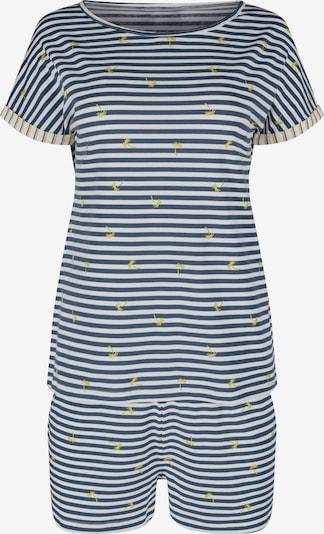 Skiny Pyjamashortsit värissä yönsininen / keltainen / valkoinen, Tuotenäkymä