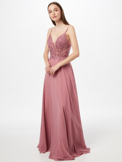 LUXUAR Abendkleid in rosé, Modelansicht