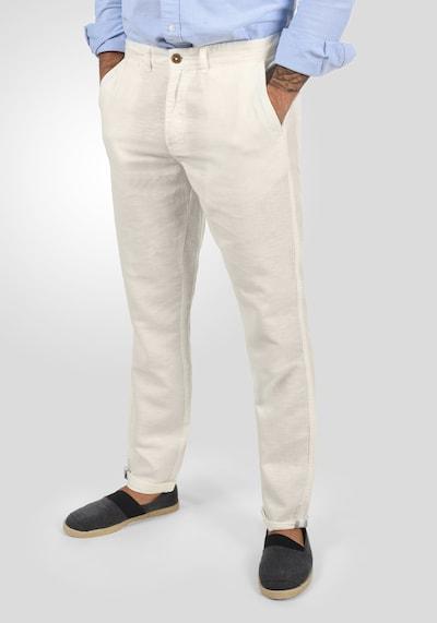 !Solid Leinenhose 'Loran' in beige / hellbeige / weiß, Modelansicht