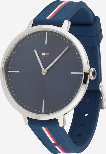 TOMMY HILFIGER Uhr in navy / rotmeliert / silber / weiß, Produktansicht