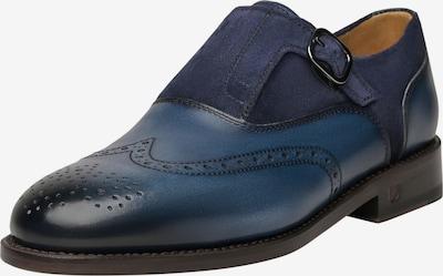 Henry Stevens Schnallenschuhe Rahmengenäht 'Ella FBSM' in blau, Produktansicht
