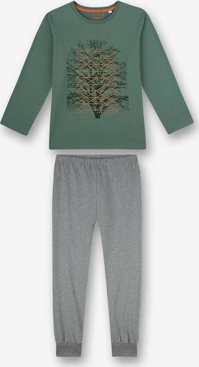 SANETTA Pyjama en gris / vert / orange / noir, Vue avec produit
