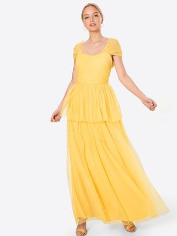 Maya Deluxe Aftonklänning 'ANAYA' i gul