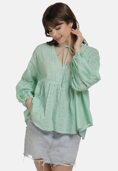 MYMO Bluse in mint, Modelansicht
