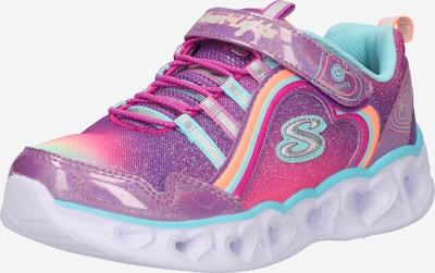 SKECHERS Sneaker in aqua / dunkellila / orange / himbeer, Produktansicht