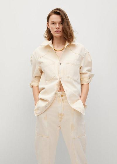 MANGO Bluse 'ANGELA' in beige, Modelansicht
