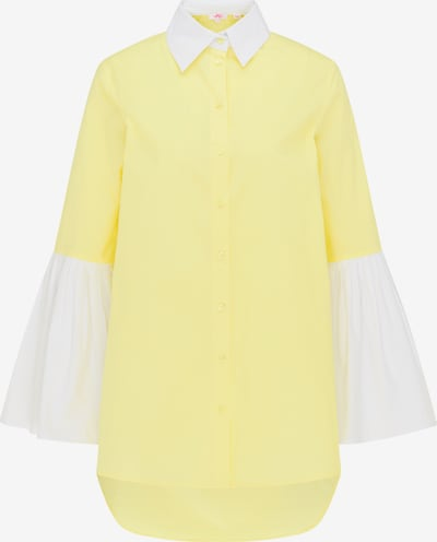 MYMO Pusero värissä sitruuna / valkoinen, Tuotenäkymä