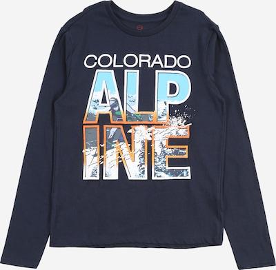 LEMON BERET Shirt in de kleur Navy / Lichtblauw / Gemengde kleuren / Sinaasappel / Wit: Vooraanzicht