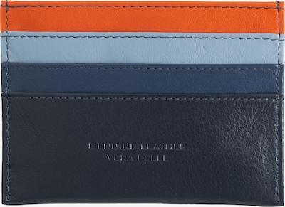 DuDu Etui 'Svalbard' in de kleur Navy / Lichtblauw / Donkeroranje, Productweergave