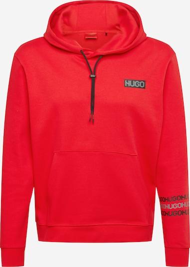 HUGO Sweat-shirt 'Dozzi' en gris / rouge / noir, Vue avec produit