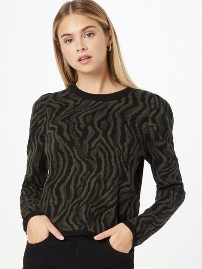 JDY Pullover 'TYGA' in dunkelgrün / schwarz, Modelansicht