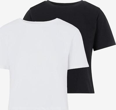 PIECES T-Shirt 'Rina' in schwarz / weiß, Produktansicht