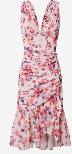 Chi Chi London Φόρεμα κοκτέιλ σε σκούρο μπλε / ρόδινο / κόκκινο, Άποψη προϊόντος