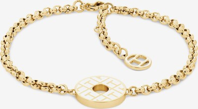 TOMMY HILFIGER Bracelet in Gold / White, Item view