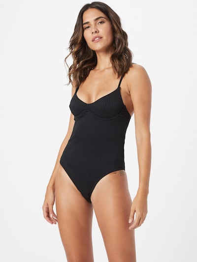 Cotton On Body Swimsuit in Black, View model