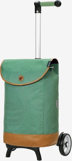 Andersen Shopper Einkaufstrolley 'Emil' in braun / grün, Produktansicht