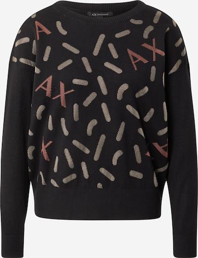 ARMANI EXCHANGE Пуловер в бежово / червено / черно, Преглед на продукта