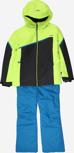 CMP Sports suit in sky blue / yellow / black, Item view