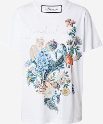 Maglietta 'Wanderlust' di PRINCESS GOES HOLLYWOOD in bianco