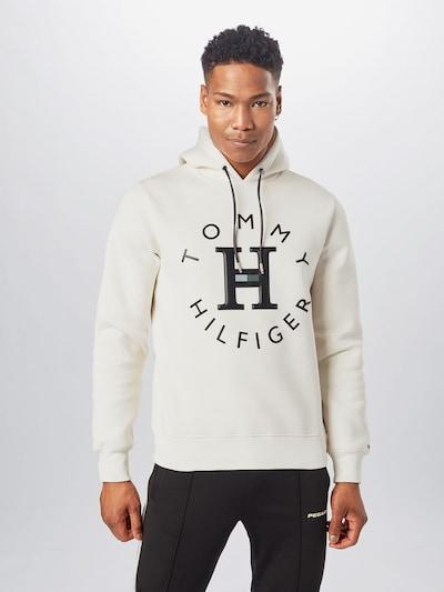 TOMMY HILFIGER Sweatshirt in Cream / Black: Frontal view