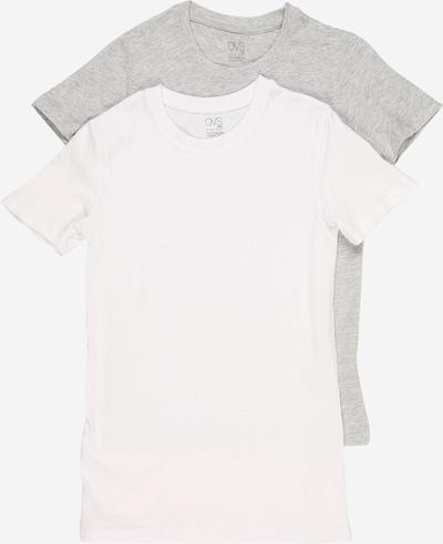 OVS Shirt in de kleur Grijs / Wit, Productweergave