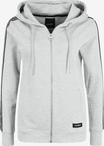Oxmo Zip-Up Hoodie 'Gabby' in Grey
