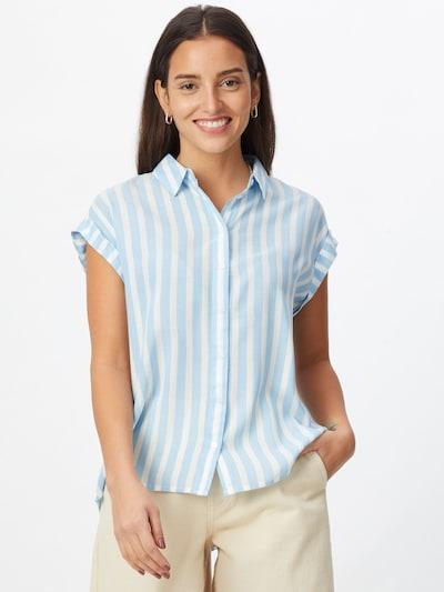 TOM TAILOR Bluse in blau / weiß, Modelansicht
