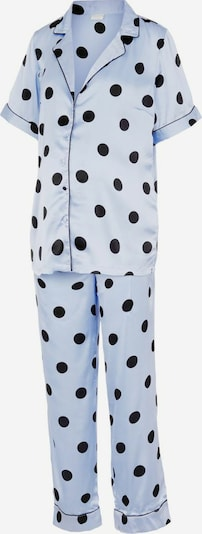 MAMALICIOUS Pyjama 'Mandera' en bleu ciel / noir, Vue avec produit