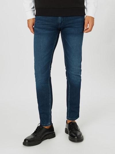 HUGO Jean 'HUGO 734' en bleu denim, Vue avec modèle