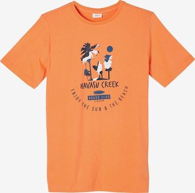 s.Oliver Shirt in de kleur Gemengde kleuren / Sinaasappel, Productweergave