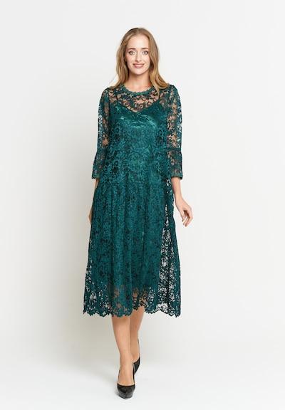 Madam-T Kleid in grün, Modelansicht