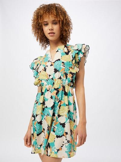Trendyol Kleid in sand / jade / orange / schwarz / weiß, Modelansicht
