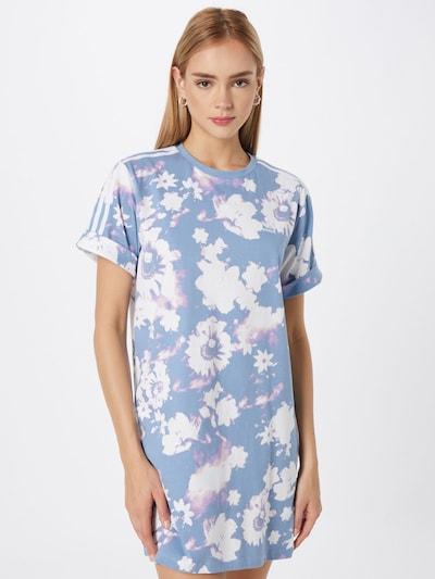 ADIDAS ORIGINALS Kleid in rauchblau / helllila / weiß, Modelansicht