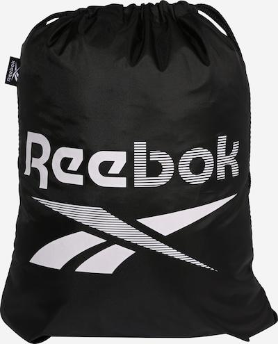 REEBOK Športna torba | črna / bela barva, Prikaz izdelka
