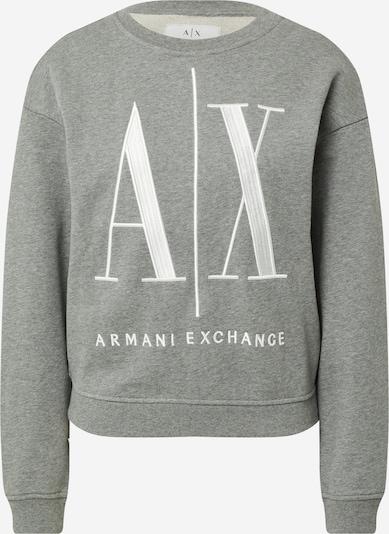 ARMANI EXCHANGE Sweatshirt '8NYM02' in de kleur Grijs / Wit, Productweergave