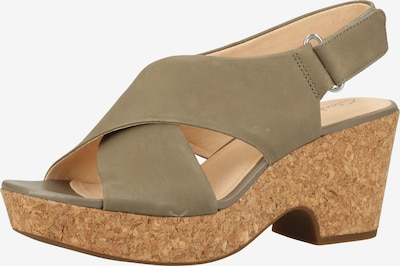 CLARKS Strap sandal in Grey, Item view
