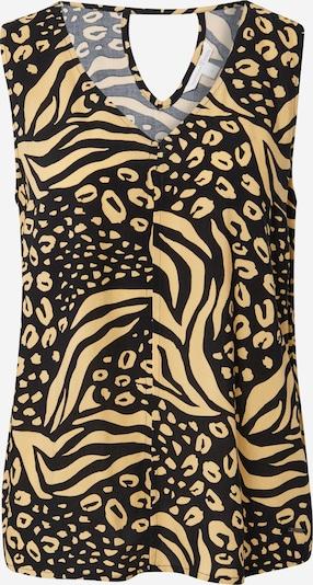 TOM TAILOR DENIM Bluse in beige / schwarz, Produktansicht