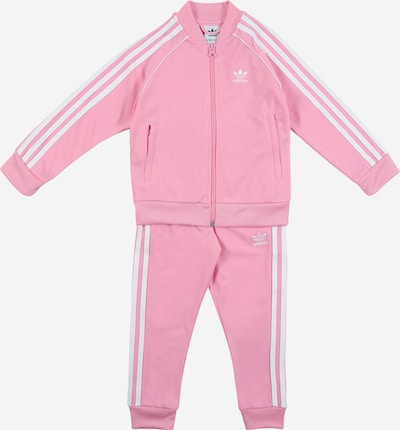 ADIDAS ORIGINALS Trainingsanzug in pink / weiß, Produktansicht