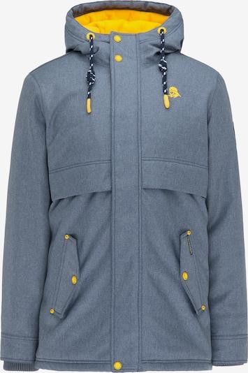 Schmuddelwedda Winterjas in de kleur Blauw / Geel, Productweergave